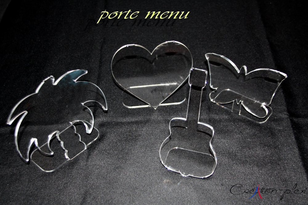 Porte menus ou porte photos cr ation plexi for Menus sympas et originaux