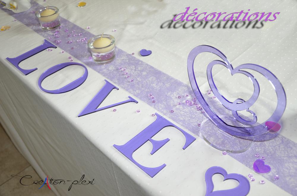 décoration de mariage plexiglas