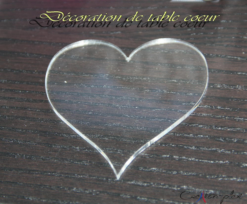 décoration de table coeur