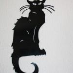 décoration murale chat noir