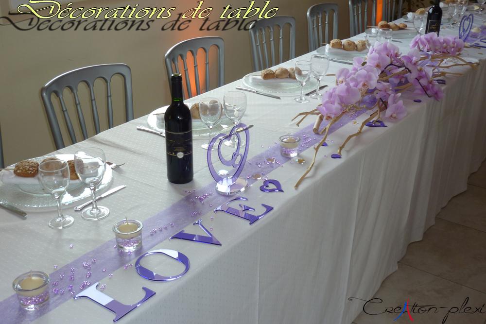 décorations de table de mariage