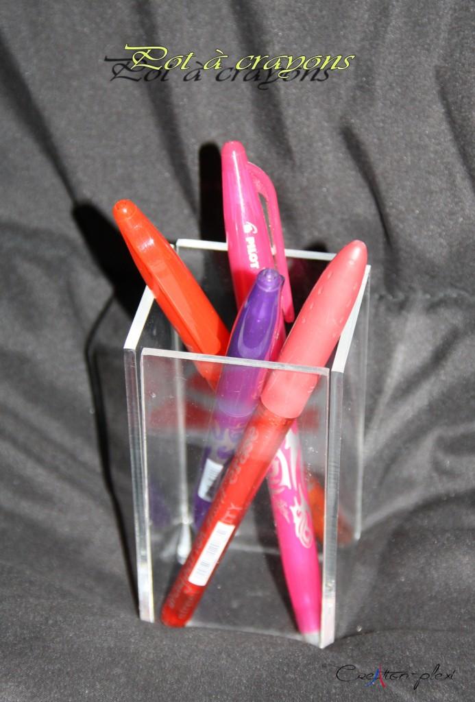 pot à crayon plexi