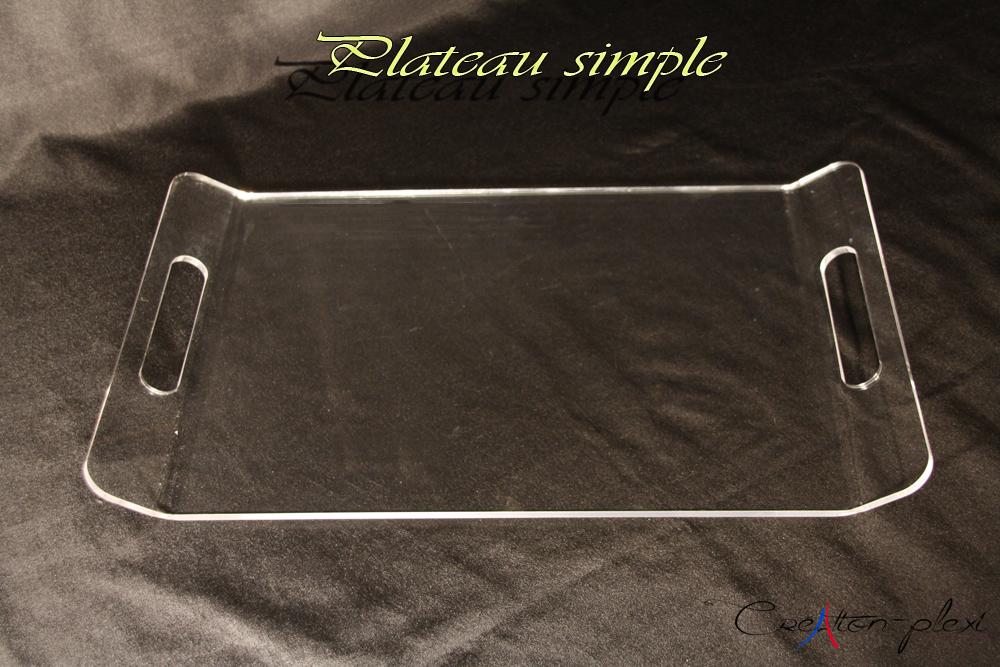 plateau plexiglas rectangulaire