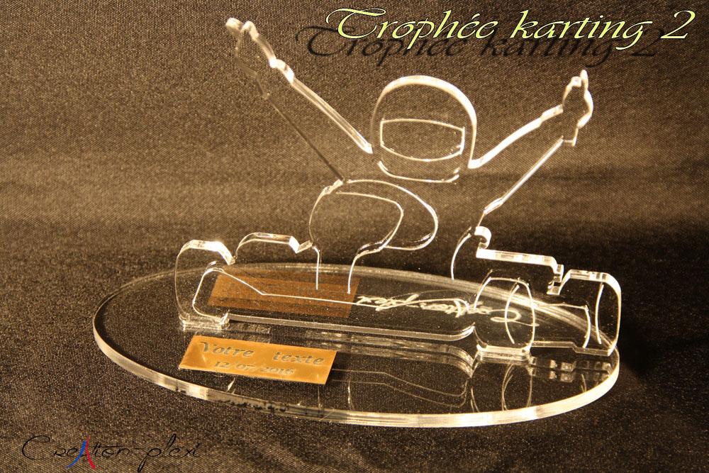 trophée karting 2 en plexi
