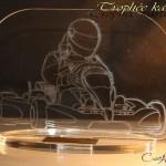 trophée karting 4 plexiglas