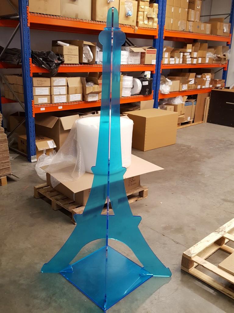 tour Eiffel 3D hauteur 1800mm en plexiglas incolore