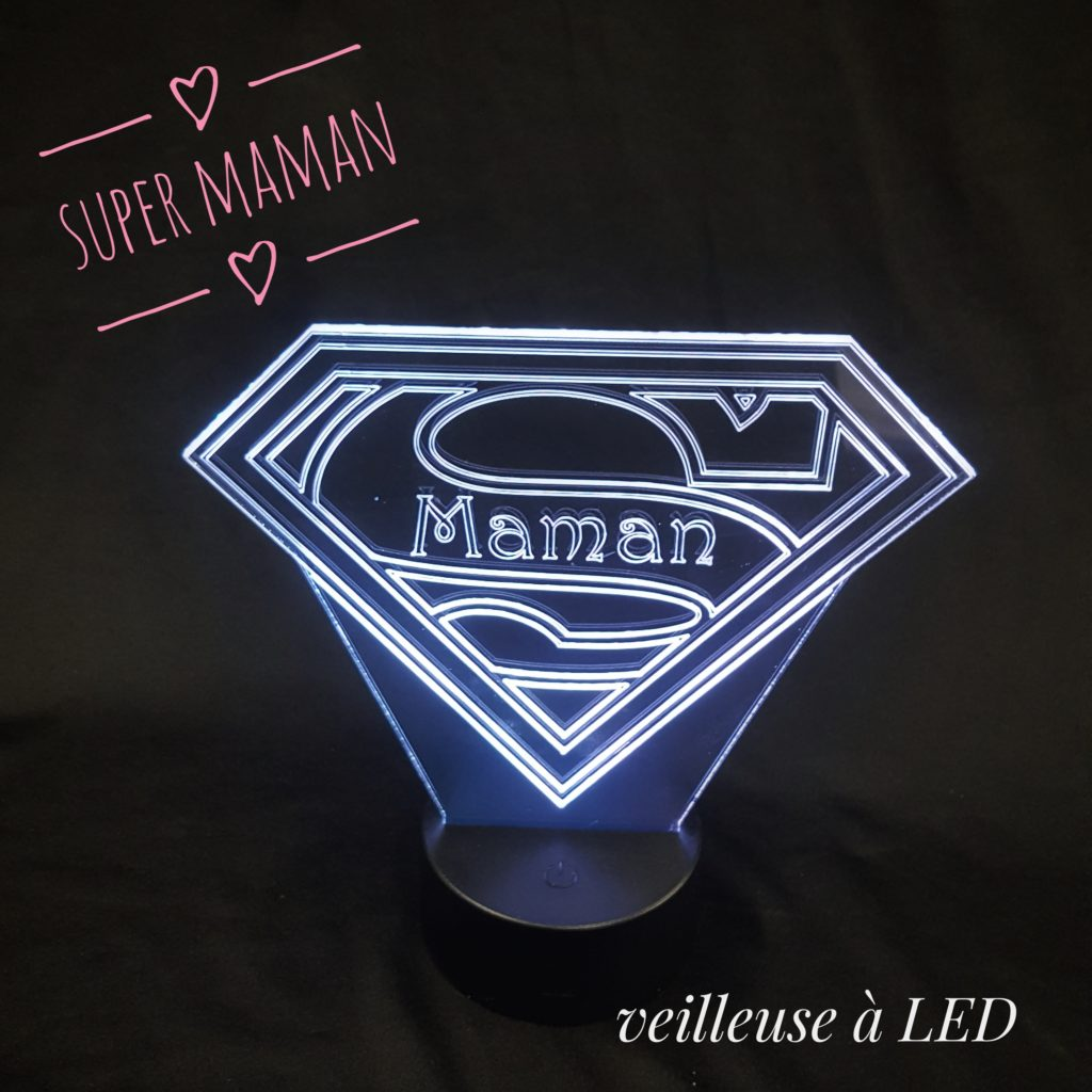 veilleuse led super maman