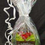 vase gravé avec rose eternelle
