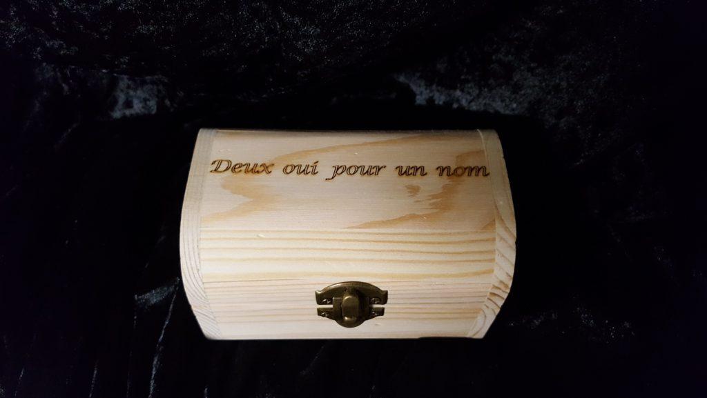 boite en bois gravure mariage