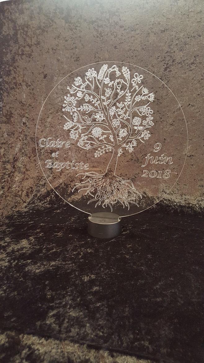 Vie Création Led De Mariage Arbre Lampe Plexi — sQdhxtrC