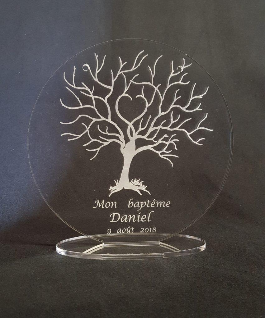 arbre de vie support médaille baptême