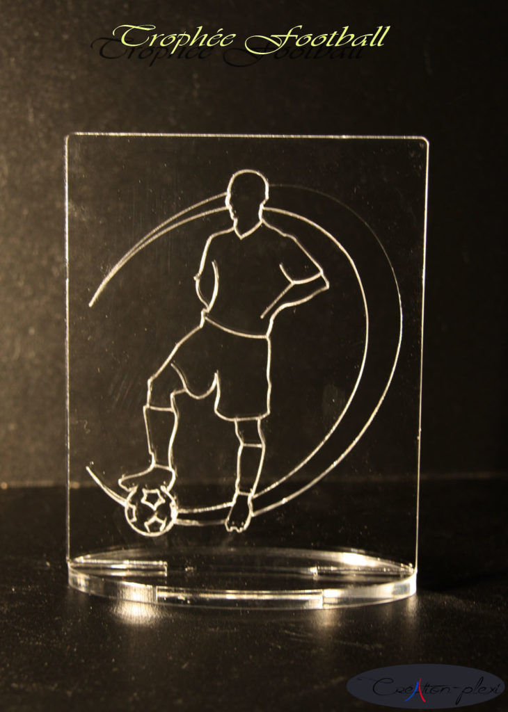 trophée football rectangulaire