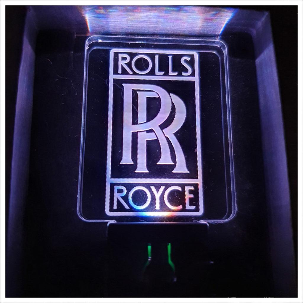 porte-clés led Roll Roycerolls