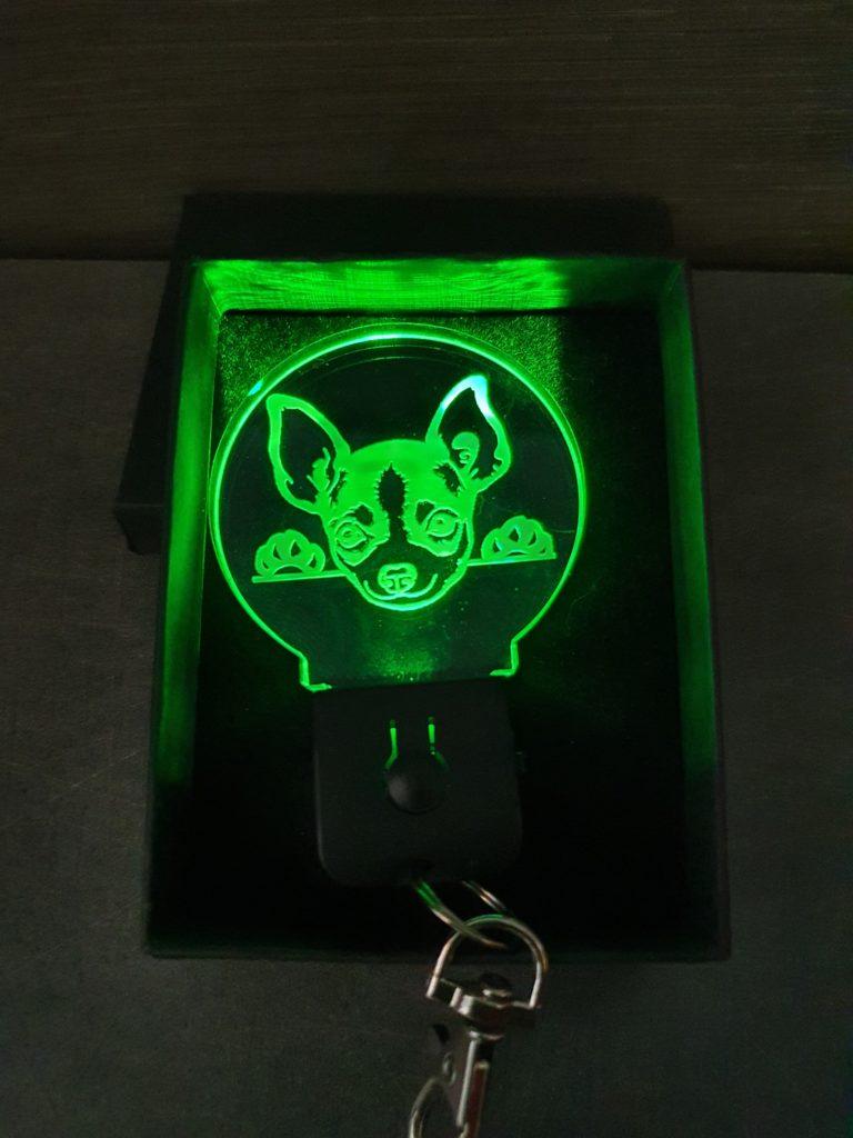Porte-clés LED chien Chihuahua