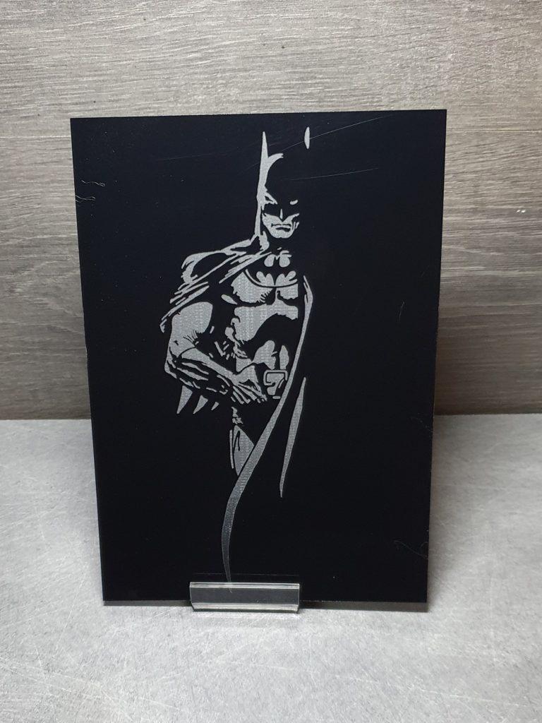 batman tableau gravé