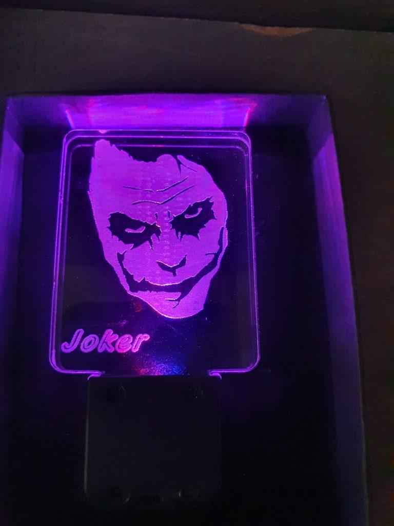porte-clé LED Joker plexi