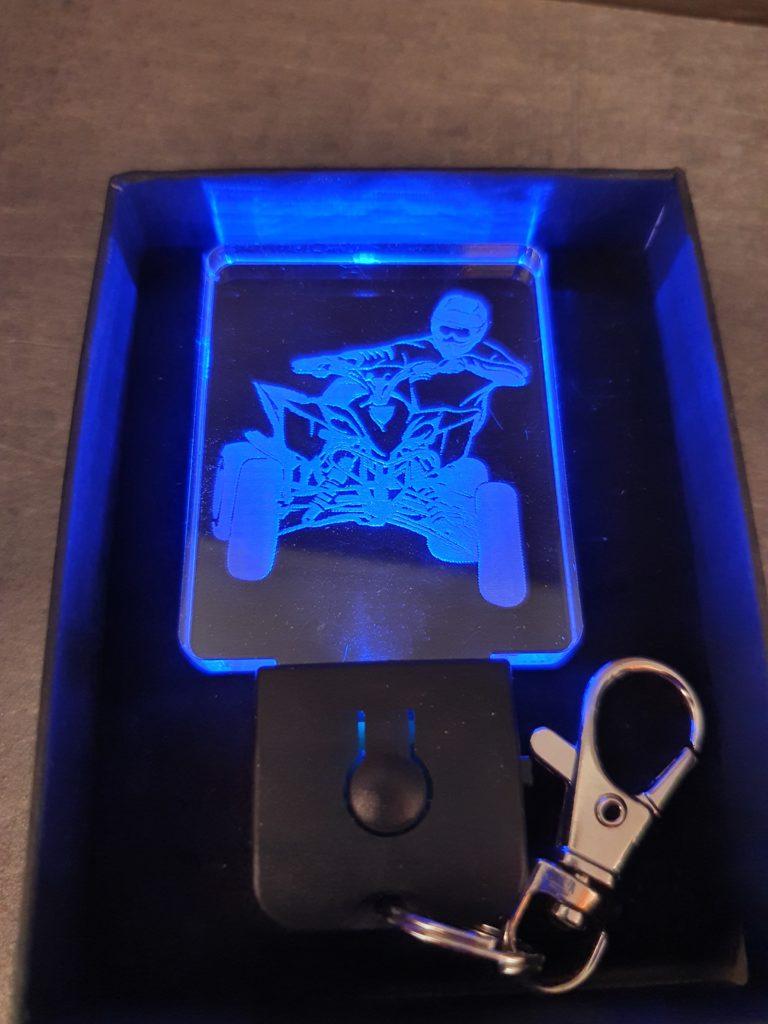 porte-clé LED quad plexi