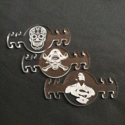 attache masque gravure laser
