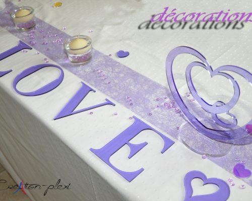 décoration 3 coeurs