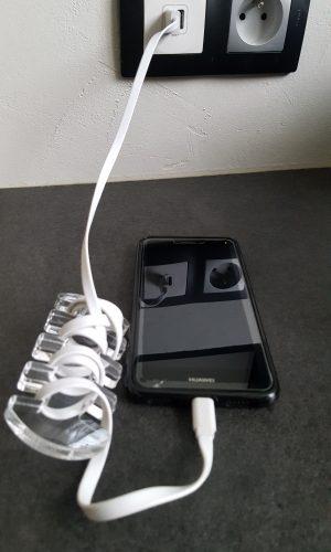 enroule câble plexiglas