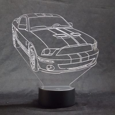 lampe 3D Mustang