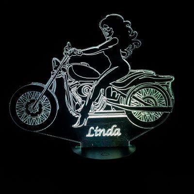lampe 3D moto femme
