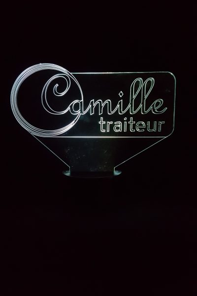 lampe LED CAmille traiteur