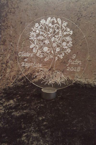 lampe led arbre de vie mariage