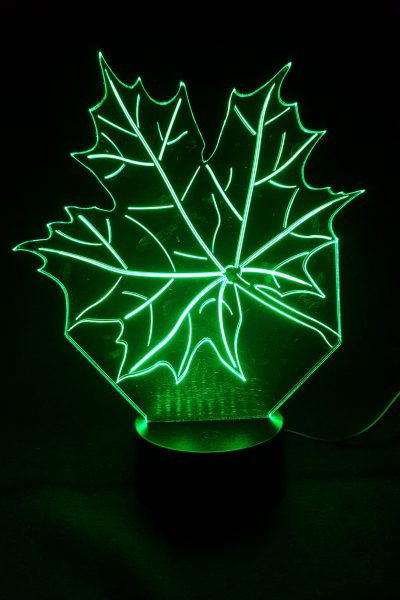 lampe led feuille d'érable