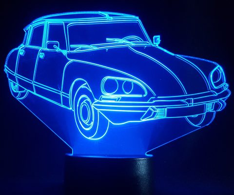 lampe plexiglas multicolore Citroen DS
