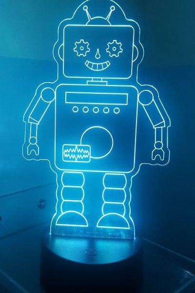 led veilleuse robot bleu