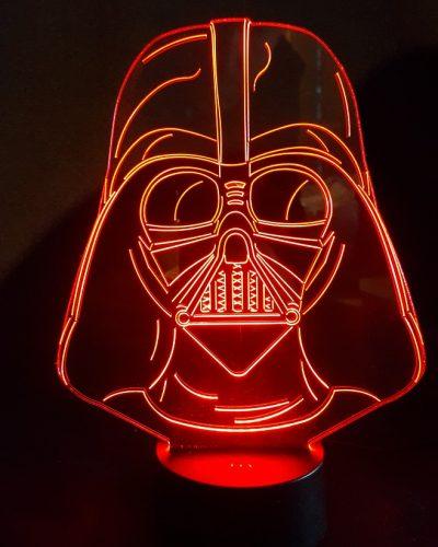 masque dark vador lampe