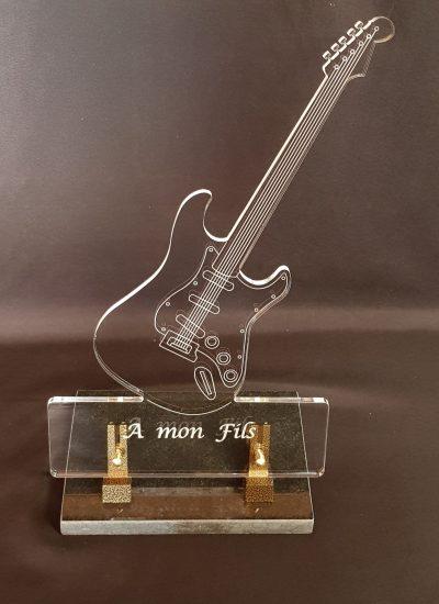 plaque funéraire guitare