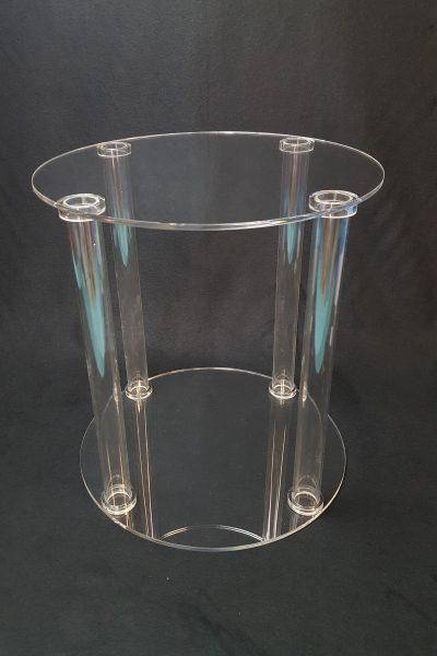 plateau colonne en plexiglas