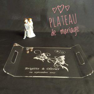 plateau en plexiglas pour mariage
