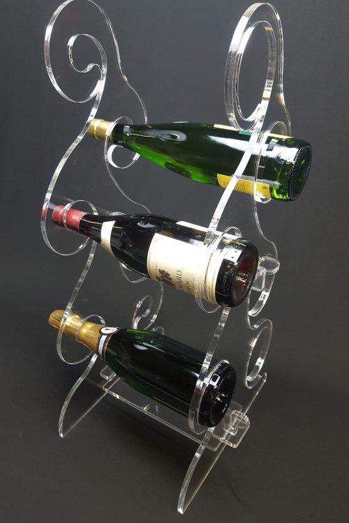 plexiglas porte bouteilles