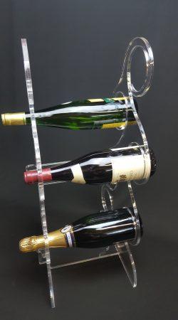 porte bouteille en plexiglas design