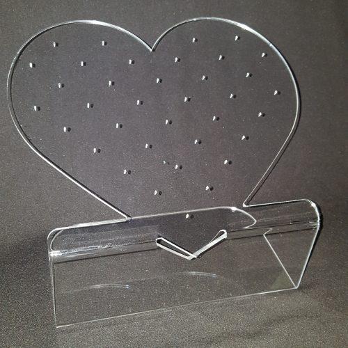 porte-piques en forme de coeur, en plexiglas