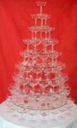 pyramide à verres