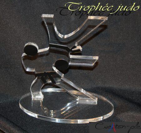 trophée judo en plexiglas