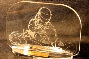 trophée karting 4 gravé