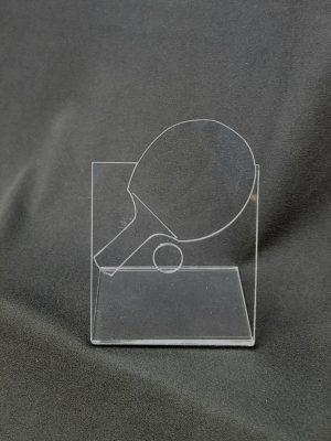trophée plié plexiglas ping pong