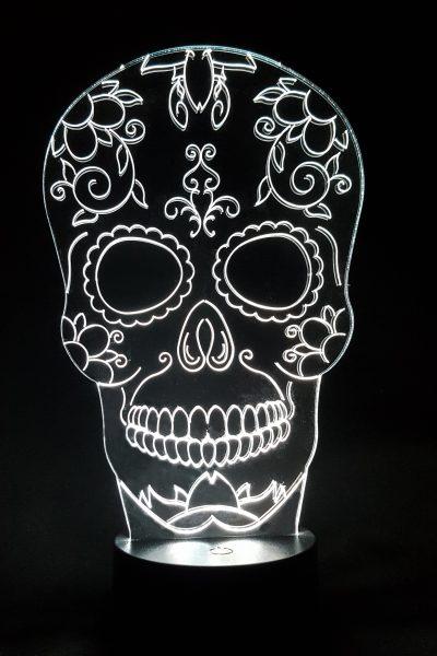 veilleuse lampe tête de mort mexicaine